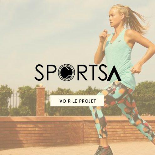 Création d'emailing pour SportSA